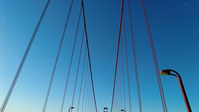 drive on the golden gate bridge at sunrise. - suspension bridge stock videos & royalty-free footage