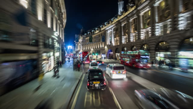 pov drive regent street in london - london england stock videos & royalty-free footage