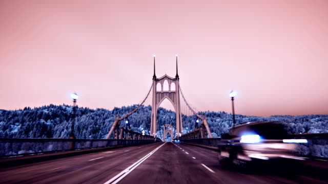 POV Drive Sequence on the St Johns Bridge, Oregon