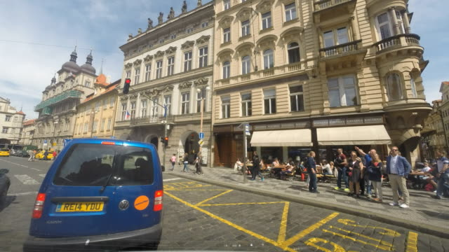 A drive through the cobblestone streets of Prague, Czech Republic.