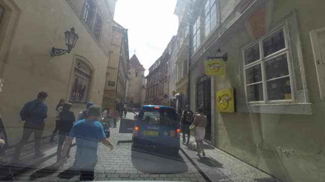 A drive through the cobblestone streets of Prague, Czech Republic.