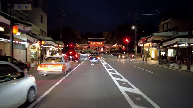 drive video of the town of kyoto. - temple building stock videos & royalty-free footage