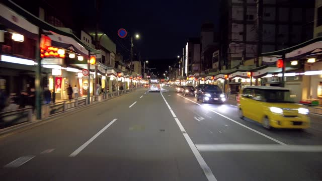 drive video of the town of kyoto. - headlight stock videos & royalty-free footage