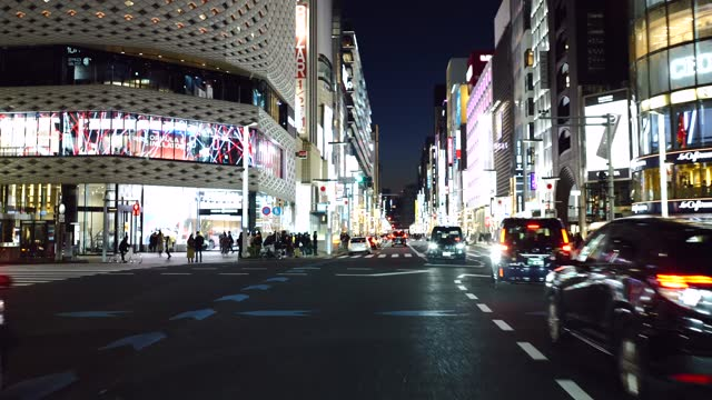 drive video of the town of tokyo. ginza-nihonbashi - land vehicle stock videos & royalty-free footage