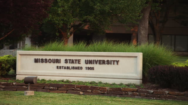 Drive-by Missouri State Univeristy sign