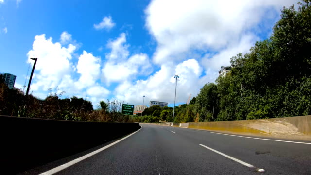 drive-lapse auckland - car point of view stock videos & royalty-free footage