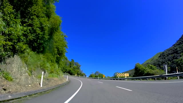 drive-lapse new zealand - car point of view stock videos & royalty-free footage