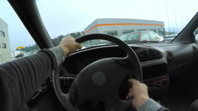 pov driver hitting another car in the crossroad - road accident stock videos & royalty-free footage