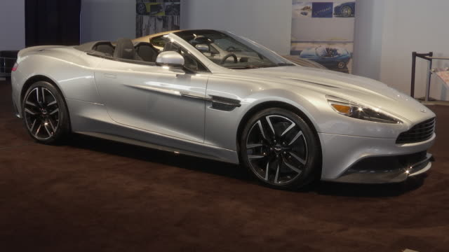 zi ws driver side profile of vanquish volante / cu front wheel / zo ws front end / zo ws passenger side profile / ws front end of rapide s swish pan... - swish pan stock videos & royalty-free footage