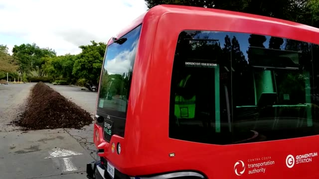 driverless shuttle from self driving vehicle company easy mile driving through the bishop ranch office park in san ramon california the first fully... - driverless transport stock videos & royalty-free footage