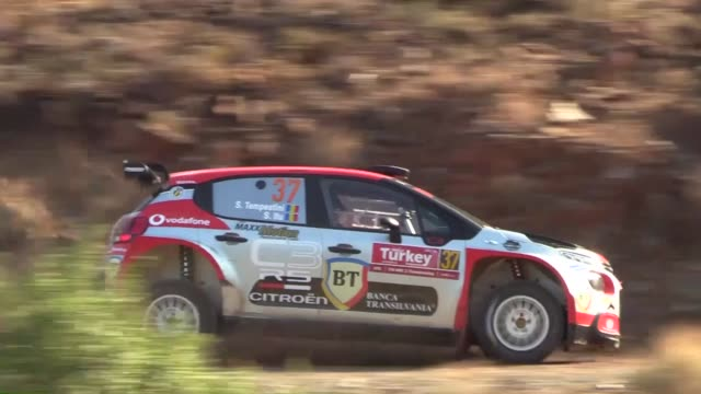 drivers compete in the cetibeli leg of the 2018 fia world rally championship in turkey's mediterranean resort town of marmaris mugla on september 14... - marmaris stock videos & royalty-free footage
