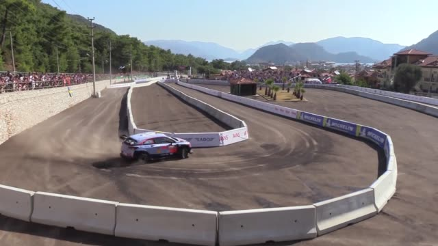 drivers compete in the marmaris legs of the 2018 fia world rally championship in turkey's mediterranean resort town of marmaris on september 16 2018 - marmaris stock videos & royalty-free footage