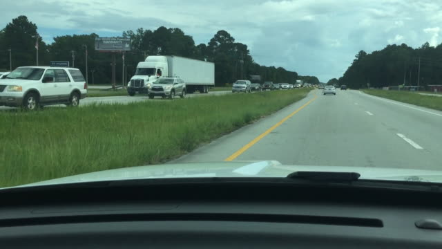 wghp drivers leave north carolina prior to arrival of hurricane florence on september 11 2018 - atlantic beach north carolina stock videos & royalty-free footage