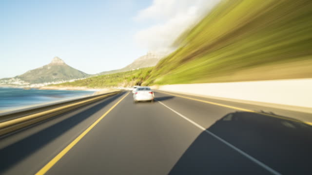 driving a car around Cape Town - drivers POV - on board time lapse - shot-4 part-1: Hout Bay to CapeTown