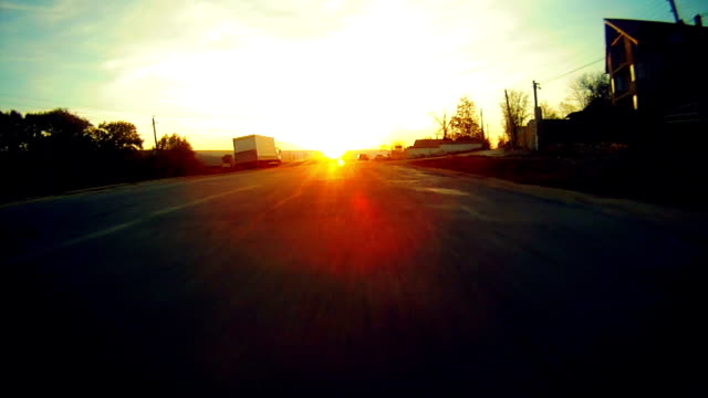 driving a car at sunset, pov - moldova stock videos and b-roll footage