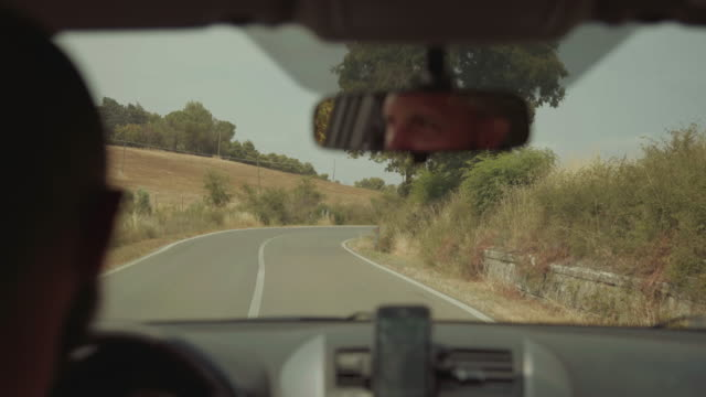 POV Driving a car cockpit view