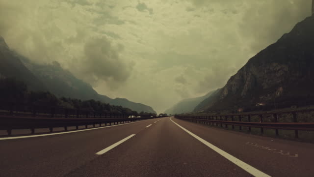 pov driving a car in italian autostrada - italy stock videos & royalty-free footage
