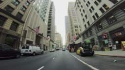 POV Driving a car in San Francisco