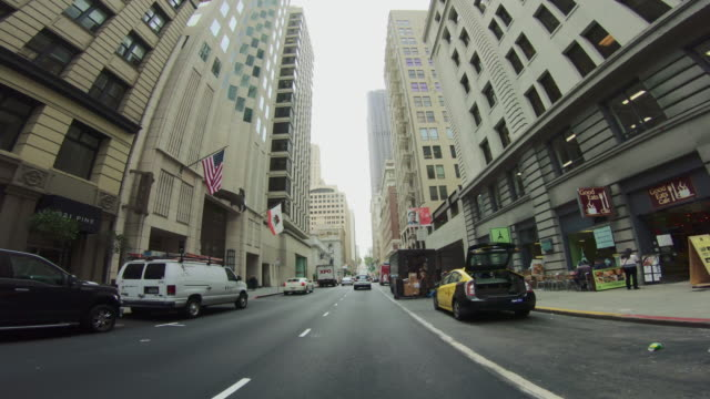 pov driving a car in san francisco - san francisco california video stock e b–roll