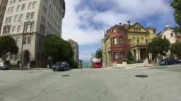 POV Driving a car in San Francisco