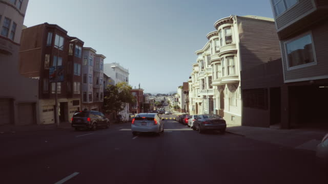 driving a car pov: in san francisco - car point of view stock videos and b-roll footage