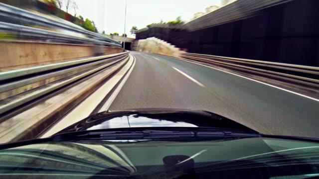 Fahren ein Auto-Zeitraffer