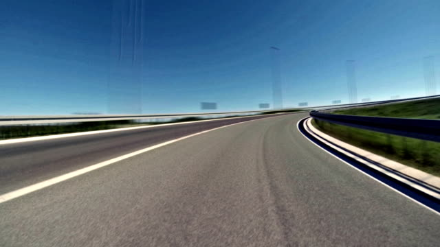 車の時間の経過を運転 - 車の視点点の映像素材/bロール