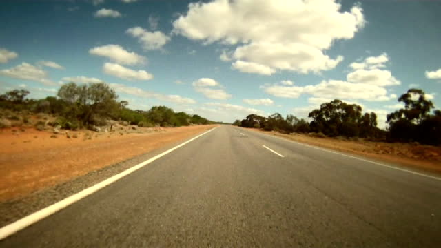 ntsc time lapse: driving across the western australia - bush stock videos & royalty-free footage
