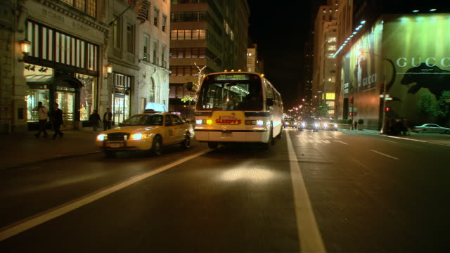 TS / REAR VIEW 90' Driving along 5th Avenue in New York City / New York
