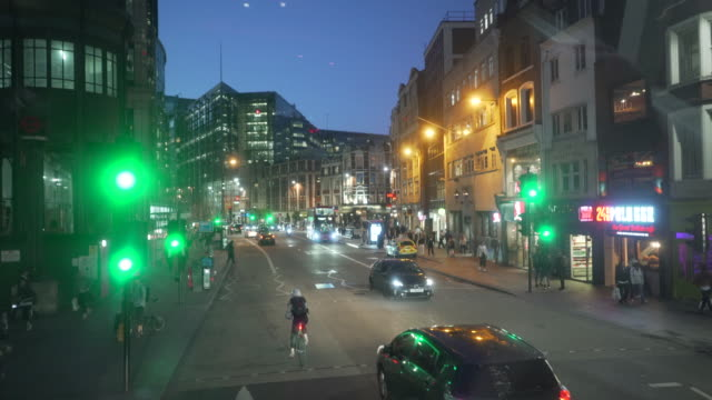 driving along bishopsgate near liverpool street station in the city of london - london england stock videos & royalty-free footage