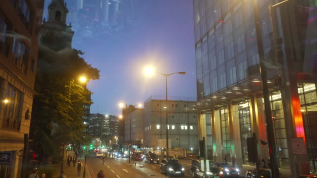 driving along bishopsgate near liverpool street station in the city of london - dusk stock videos & royalty-free footage