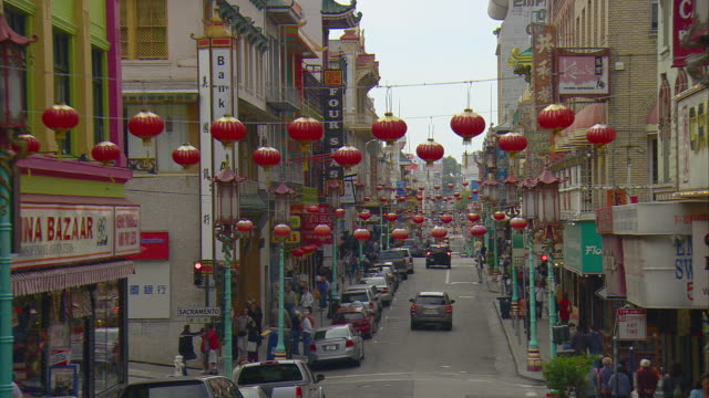 pov driving along grant street in chinatown, san francisco, california, usa - chinatown stock videos & royalty-free footage