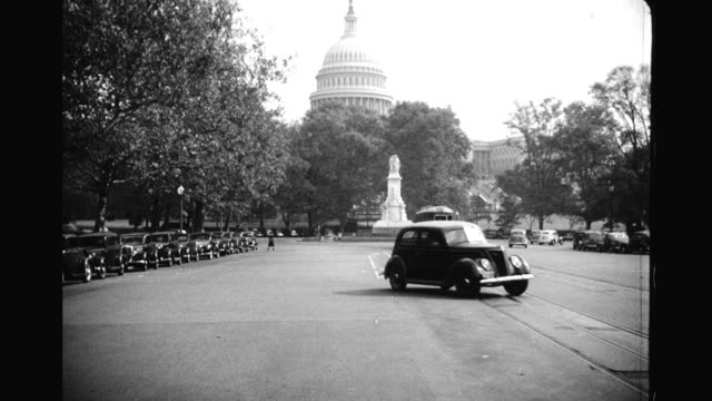 pov driving along pennsylvania avenue capitol building in background pov driving along pennsylvania avenue on january 01 1939 in washington dc - pennsylvania avenue stock videos & royalty-free footage