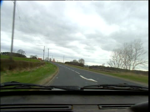 driving along quiet country road north yorkshire - 2000s style stock videos & royalty-free footage