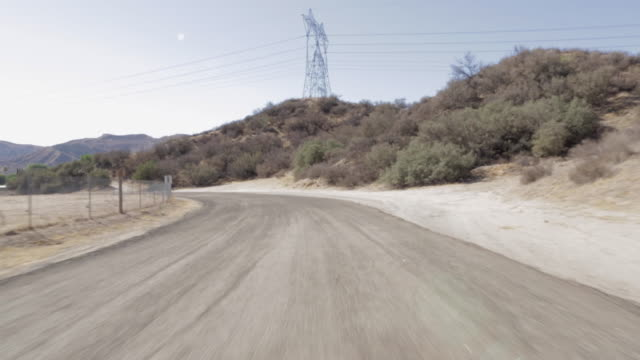 pov driving along scenic mountain road / santa clarita, california, united states - santa clarita stock videos & royalty-free footage