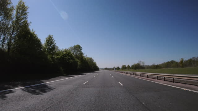 driving along the m40 motorway during lockdown shot from an outside car point of view, england, united kingdom - car point of view stock videos & royalty-free footage