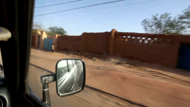 Driving along the sandy streets Niger Agadez