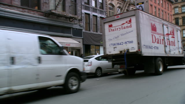TS / FRONT DRIVER 45' Driving around the Tribeca neighborhood in New York City / New York