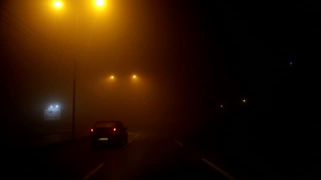 driving at night through fog - major road stock videos & royalty-free footage