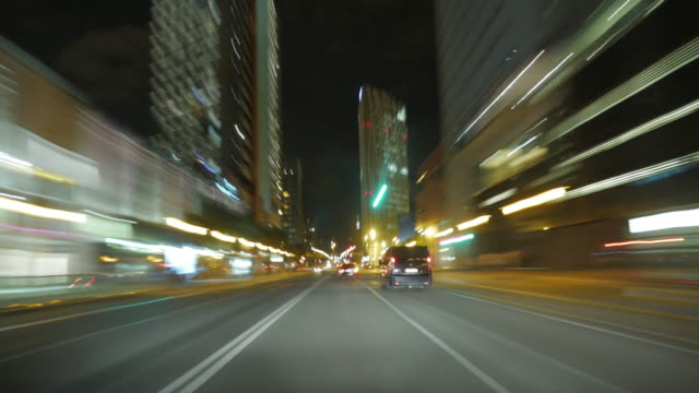 driving at night through the city - mar stock videos & royalty-free footage