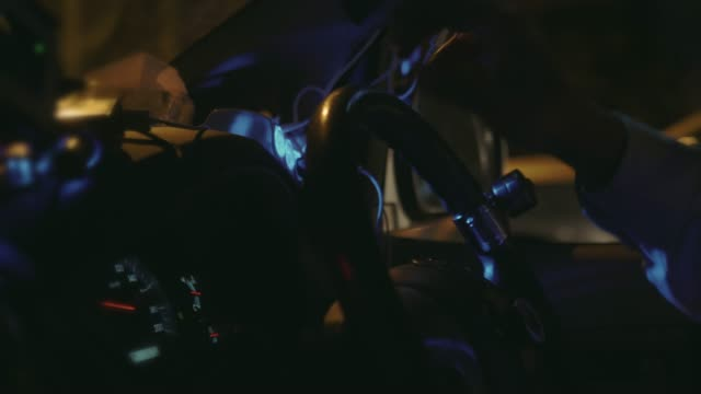 driving at night - steering wheel stock videos & royalty-free footage
