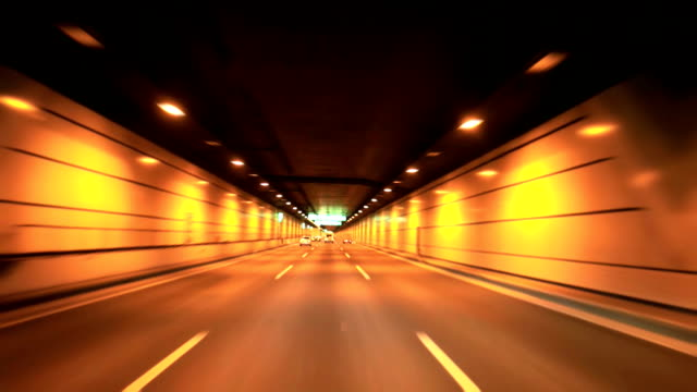 stockvideo's en b-roll-footage met driving at night - tunnel