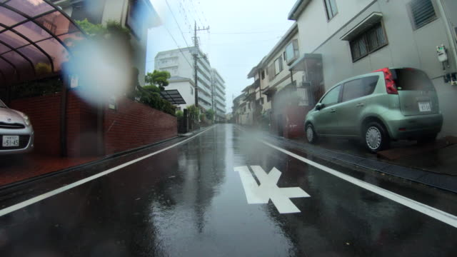 driving at rainy day - plusphoto stock videos & royalty-free footage