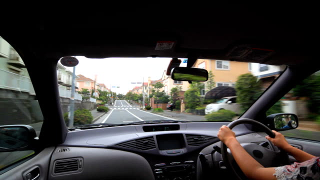 Driving at residential street