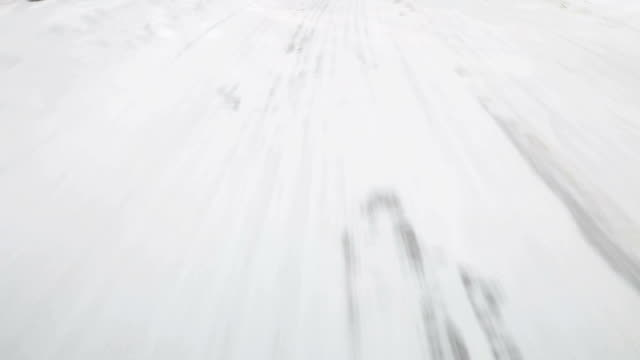 Driving at snow road