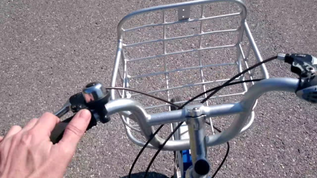 driving bicycle outdoor - handlebar stock videos & royalty-free footage
