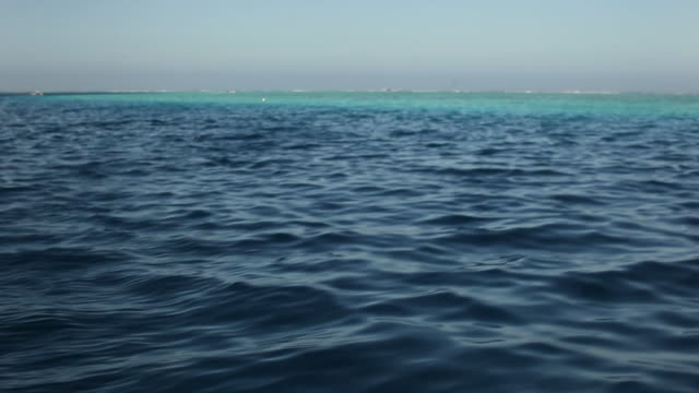 driving boat in open ocean off tahiti coast, point of view - tahiti stock videos & royalty-free footage