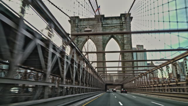 driving brooklyn bridge. - brooklyn bridge stock videos & royalty-free footage