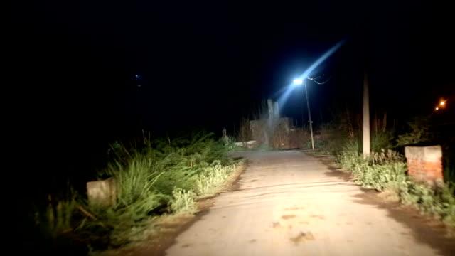 Driving car at night