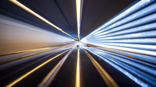POV - driving car - on board long exposure time lapse - part 2-5: mornings - roof of the car in frame